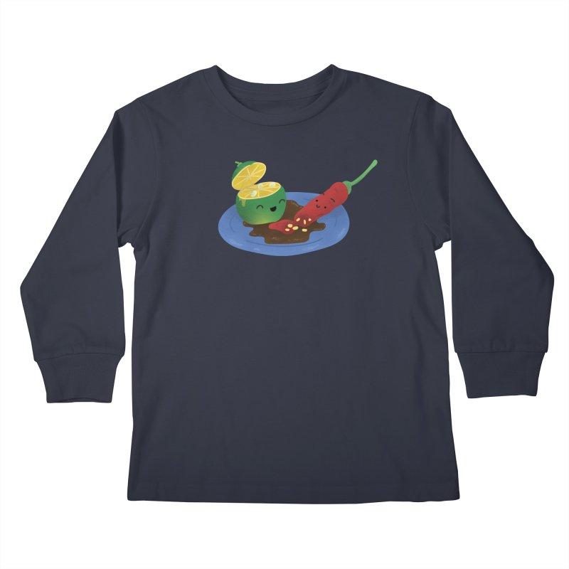Calamansi & Sili Kids Longsleeve T-Shirt by Filipeanut Sari-Sari Store