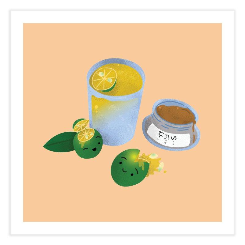 Honey Calamansi Juice Home Fine Art Print by Filipeanut Sari-Sari Store