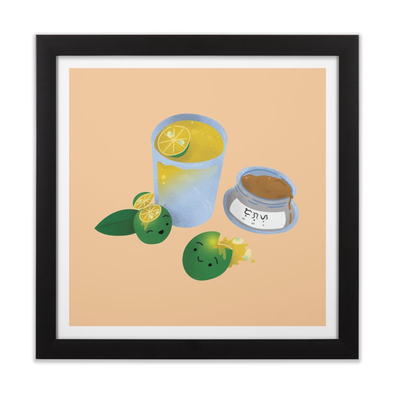 Honey Calamansi Juice Home Framed Fine Art Print by Filipeanut Sari-Sari Store
