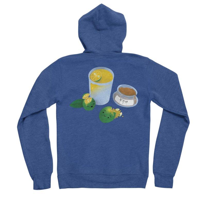 Honey Calamansi Juice Men's Sponge Fleece Zip-Up Hoody by Filipeanut Sari-Sari Store