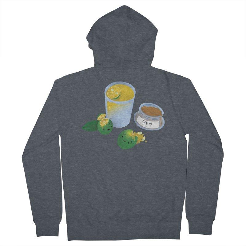 Honey Calamansi Juice Men's French Terry Zip-Up Hoody by Filipeanut Sari-Sari Store