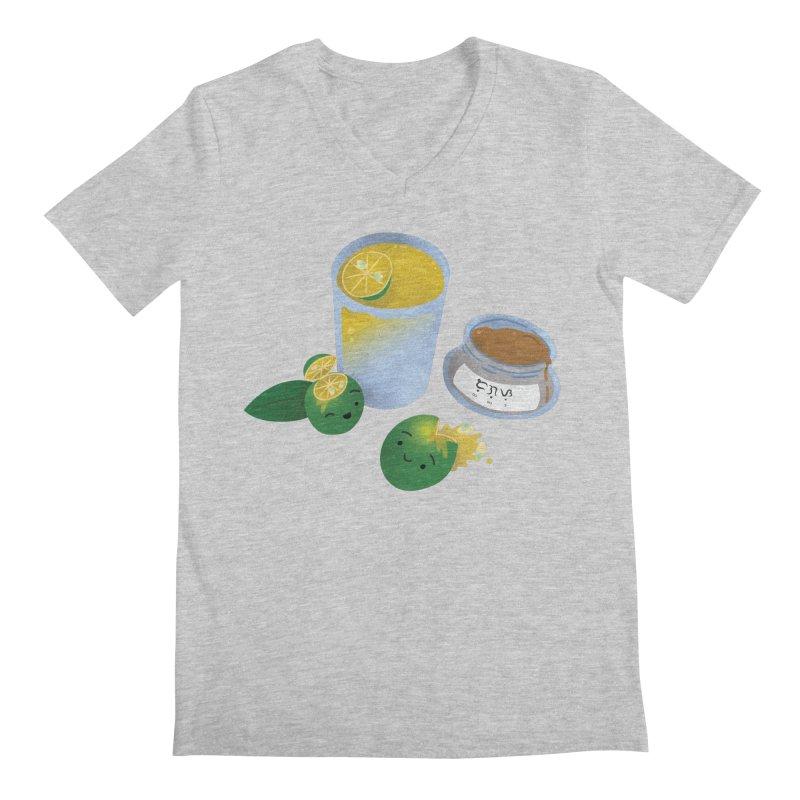 Honey Calamansi Juice Men's V-Neck by Filipeanut Sari-Sari Store