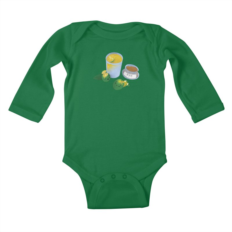 Honey Calamansi Juice Kids Baby Longsleeve Bodysuit by Filipeanut Sari-Sari Store
