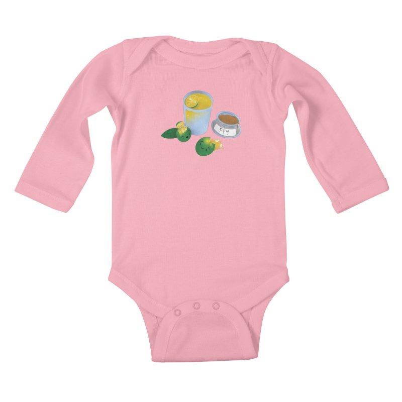 Honey Calamansi Juice Kids Baby Longsleeve Bodysuit by Filipeanut Sari-Sari Store