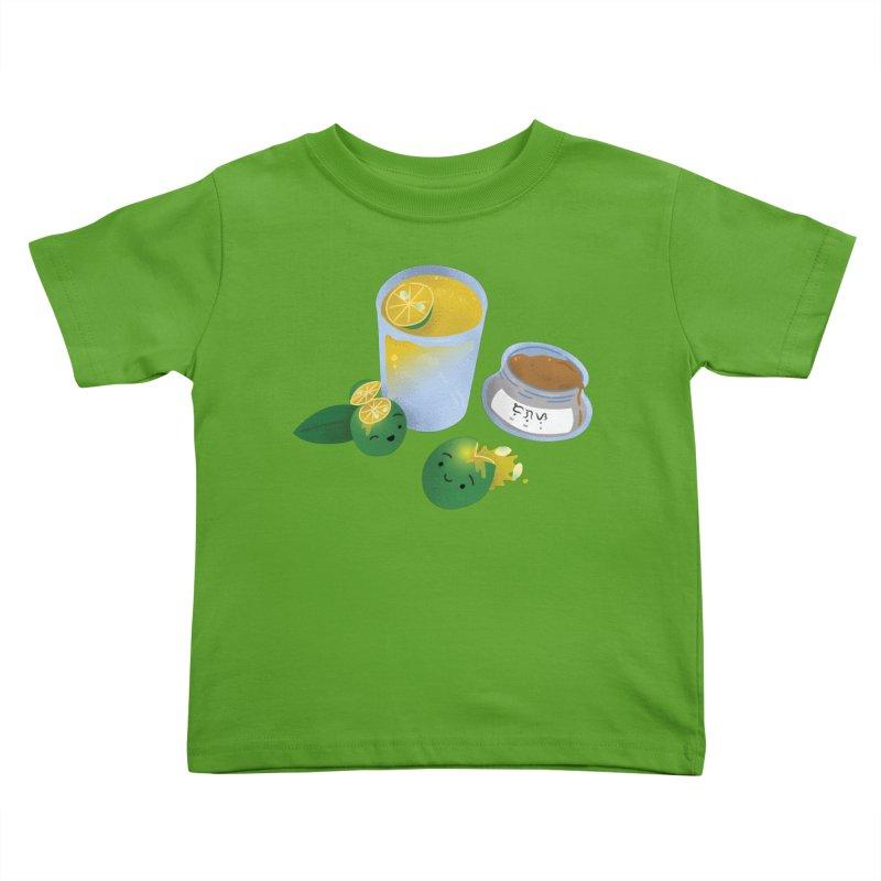 Honey Calamansi Juice Kids Toddler T-Shirt by Filipeanut Sari-Sari Store