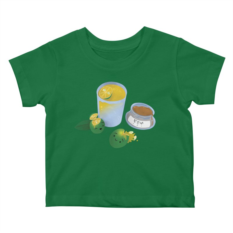 Honey Calamansi Juice Kids Baby T-Shirt by Filipeanut Sari-Sari Store