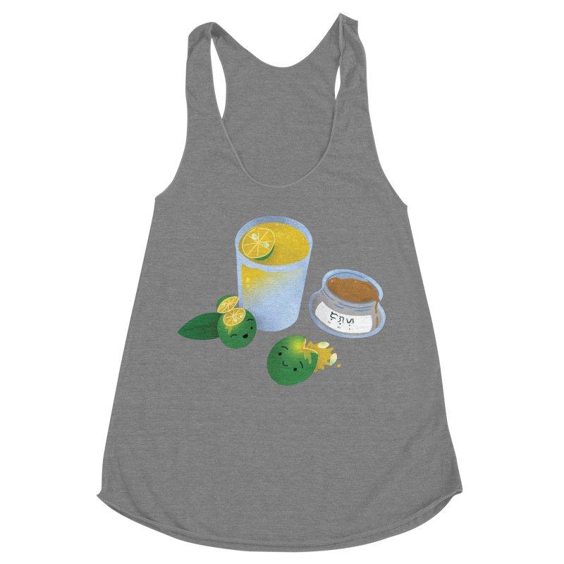 Honey Calamansi Juice Women's Racerback Triblend Tank by Filipeanut Sari-Sari Store