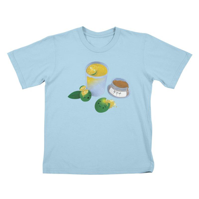 Honey Calamansi Juice Kids T-Shirt by Filipeanut Sari-Sari Store