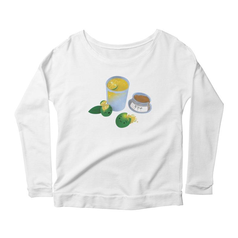 Honey Calamansi Juice Women's Scoop Neck Longsleeve T-Shirt by Filipeanut Sari-Sari Store