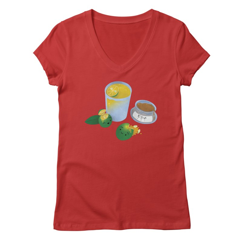 Honey Calamansi Juice Women's V-Neck by Filipeanut Sari-Sari Store