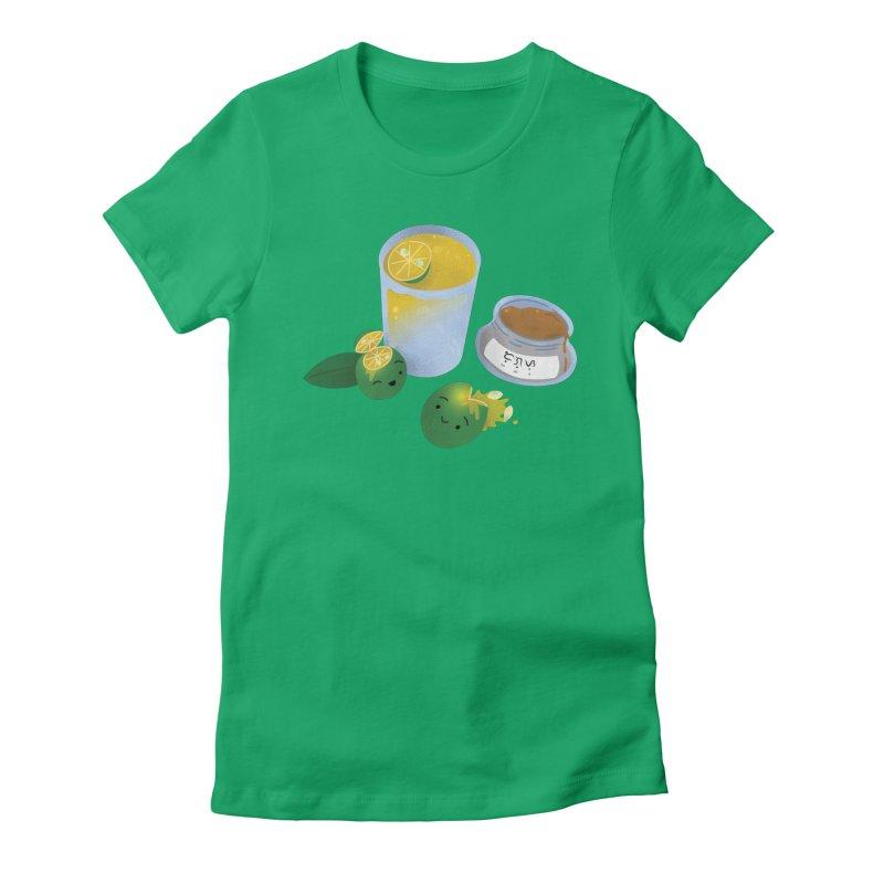 Honey Calamansi Juice Women's Fitted T-Shirt by Filipeanut Sari-Sari Store
