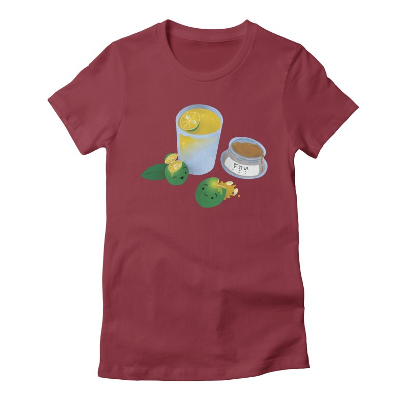 Honey Calamansi Juice Women's Fitted T-Shirt by Filipeanut Sari-Sari Store