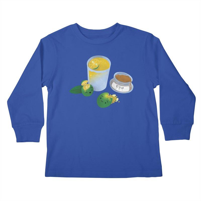 Honey Calamansi Juice Kids Longsleeve T-Shirt by Filipeanut Sari-Sari Store