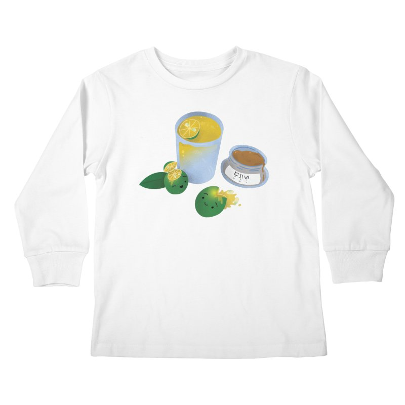 Honey Calamansi Juice Kids Longsleeve T-Shirt by Filipeanut Sari-Sari Store