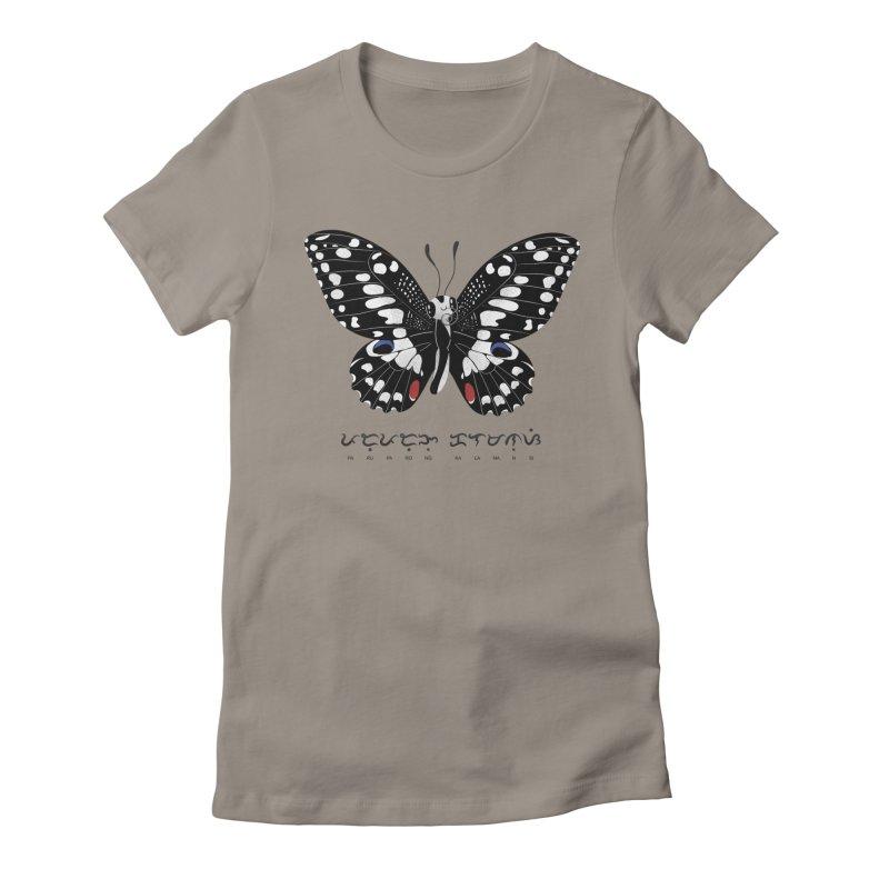 Paruparo ng Kalamansi Women's Fitted T-Shirt by Filipeanut Sari-Sari Store