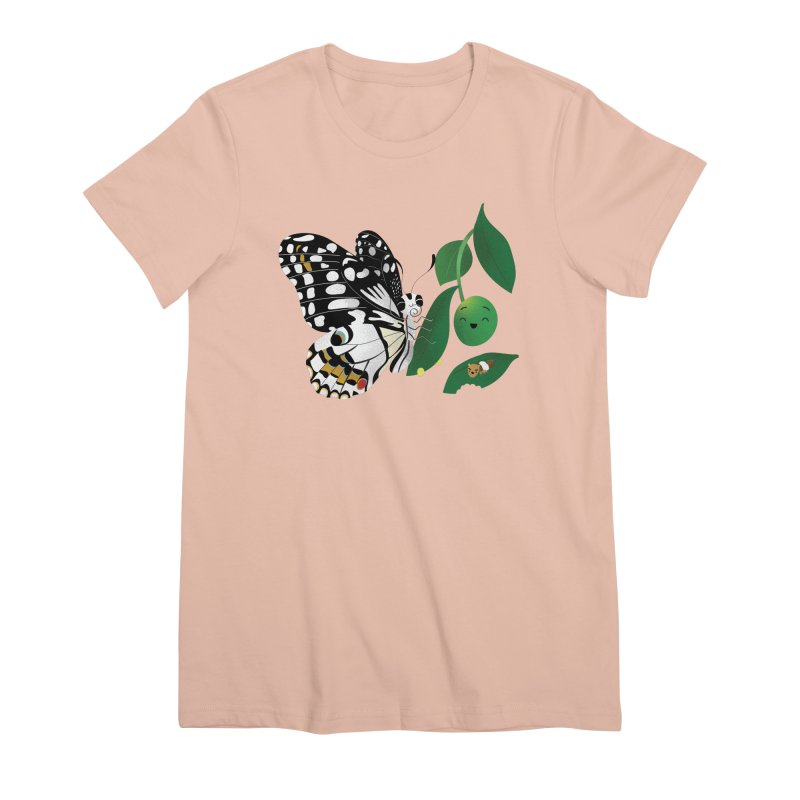 Paruparo ng Kalamansi with Calamansi & Caterpillar Women's T-Shirt by Filipeanut Sari-Sari Store
