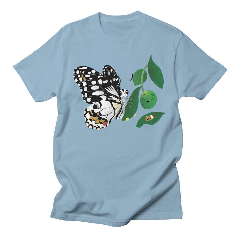Paruparo ng Kalamansi with Calamansi & Caterpillar Men's T-Shirt by Filipeanut Sari-Sari Store