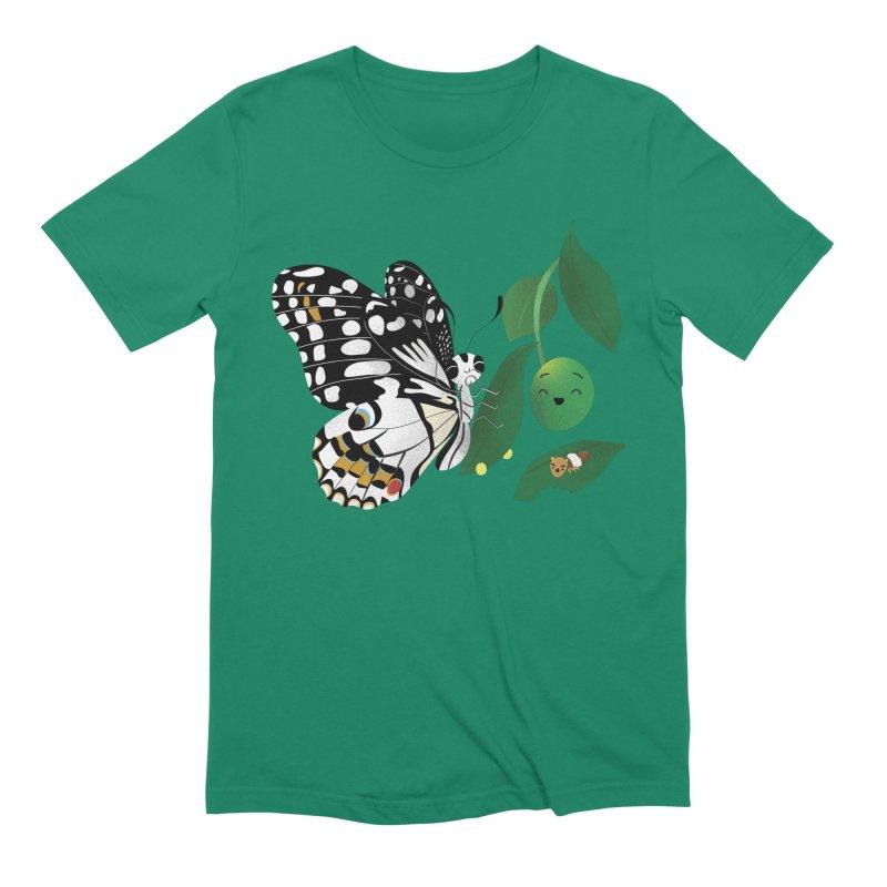 Paruparo ng Kalamansi with Calamansi & Caterpillar Men's Extra Soft T-Shirt by Filipeanut Sari-Sari Store