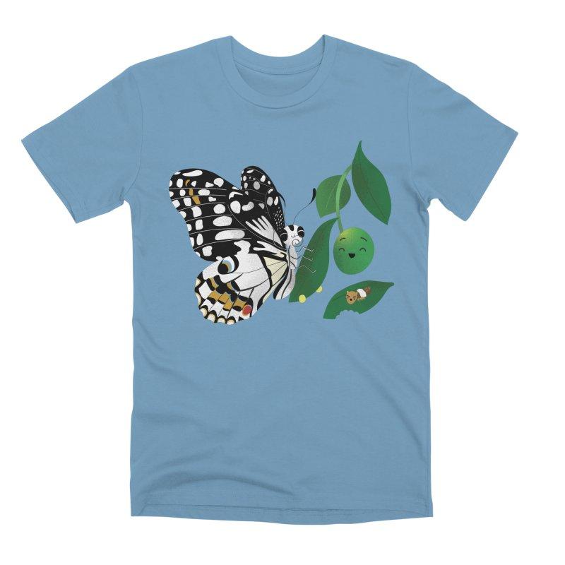 Paruparo ng Kalamansi with Calamansi & Caterpillar Men's Premium T-Shirt by Filipeanut Sari-Sari Store