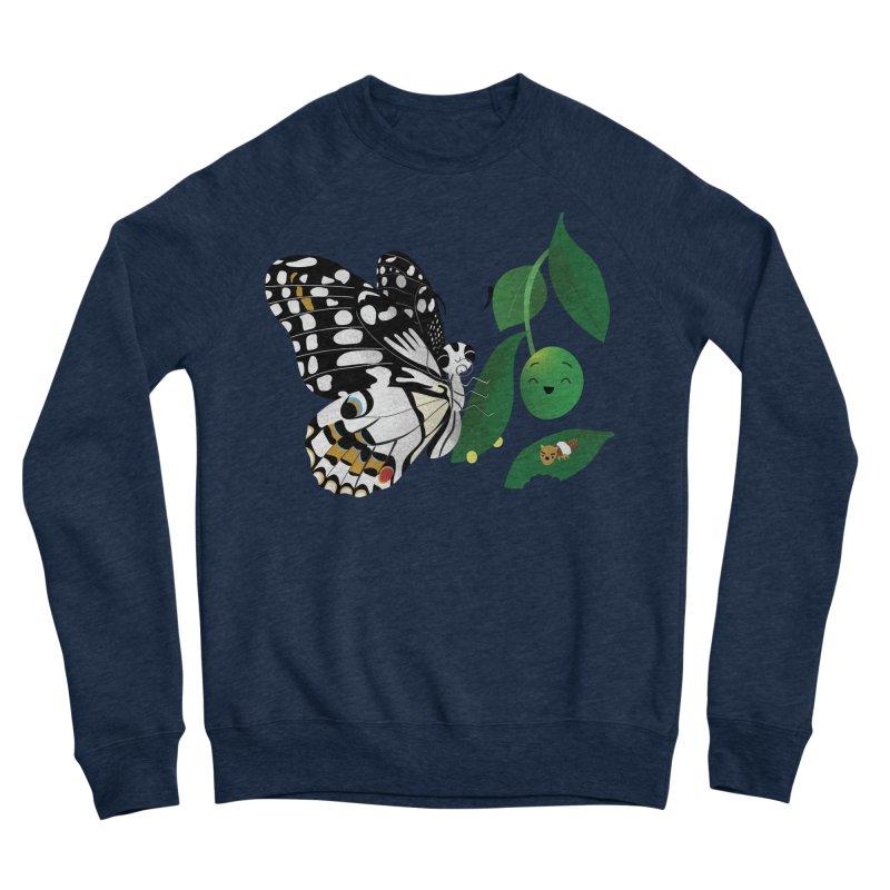 Paruparo ng Kalamansi with Calamansi & Caterpillar Men's Sweatshirt by Filipeanut Sari-Sari Store