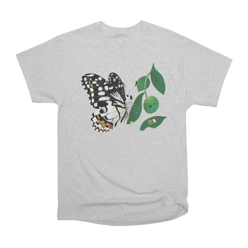 Paruparo ng Kalamansi with Calamansi & Caterpillar Men's Heavyweight T-Shirt by Filipeanut Sari-Sari Store