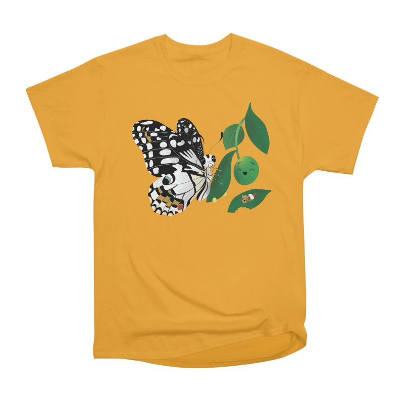 Paruparo ng Kalamansi with Calamansi & Caterpillar Women's Heavyweight Unisex T-Shirt by Filipeanut Sari-Sari Store