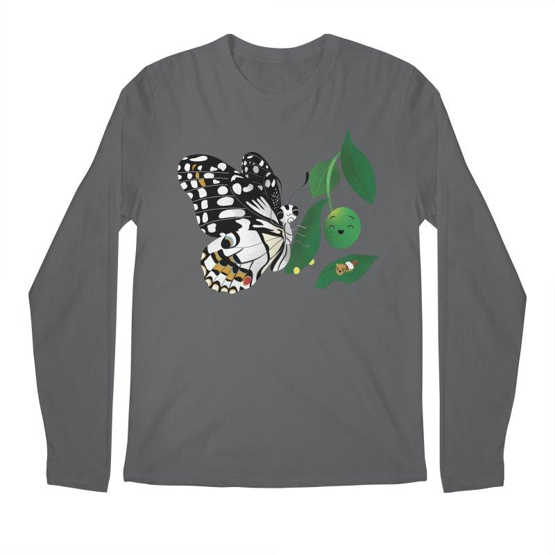 Paruparo ng Kalamansi with Calamansi & Caterpillar Men's Longsleeve T-Shirt by Filipeanut Sari-Sari Store
