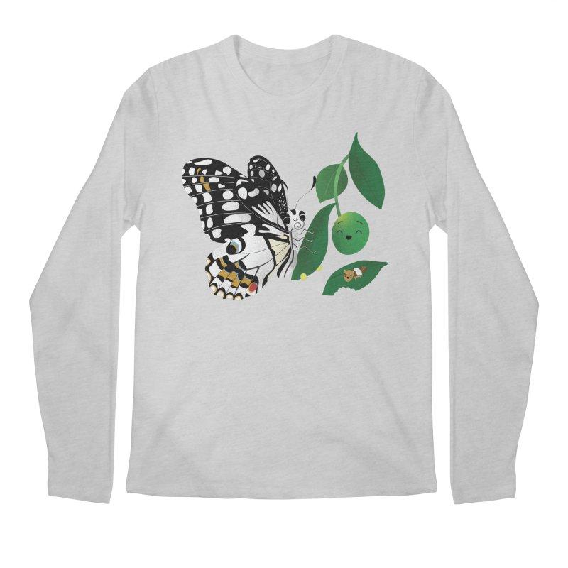 Paruparo ng Kalamansi with Calamansi & Caterpillar Men's Regular Longsleeve T-Shirt by Filipeanut Sari-Sari Store