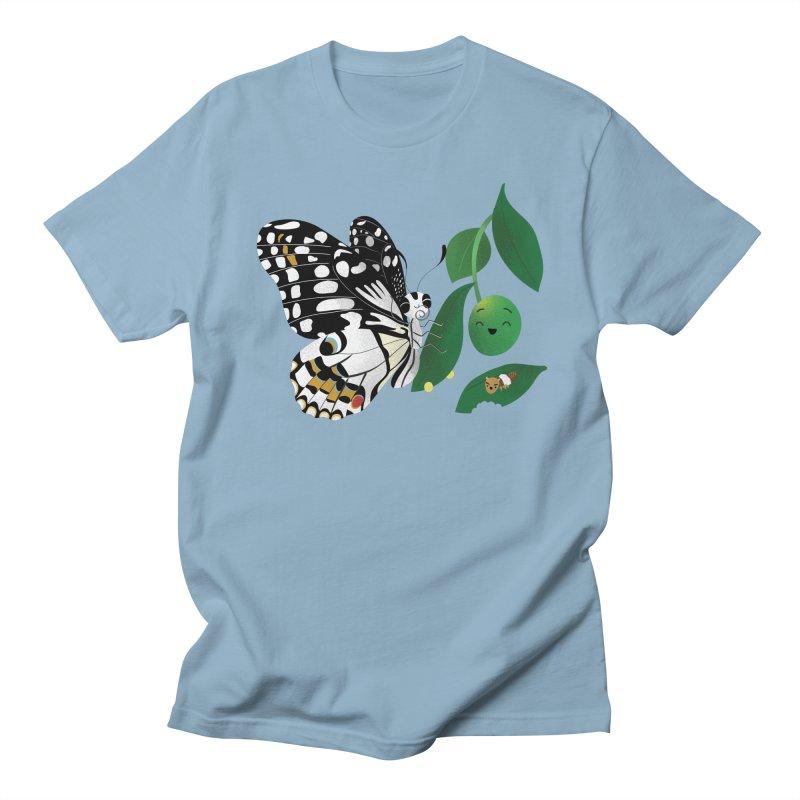 Paruparo ng Kalamansi with Calamansi & Caterpillar Women's Regular Unisex T-Shirt by Filipeanut Sari-Sari Store