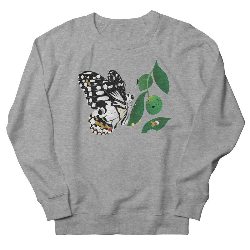 Paruparo ng Kalamansi with Calamansi & Caterpillar Men's French Terry Sweatshirt by Filipeanut Sari-Sari Store