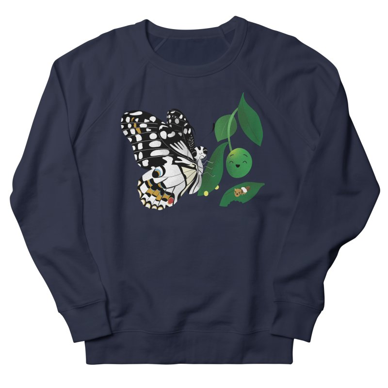 Paruparo ng Kalamansi with Calamansi & Caterpillar Men's Sweatshirt by Filipeanut Sari-Sari Store
