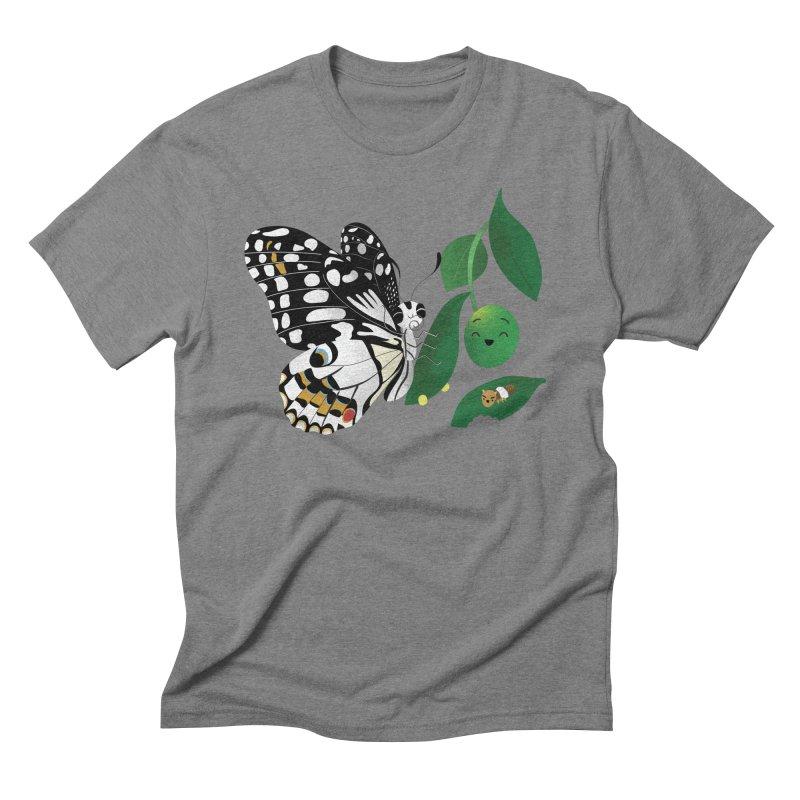 Paruparo ng Kalamansi with Calamansi & Caterpillar Men's Triblend T-Shirt by Filipeanut Sari-Sari Store