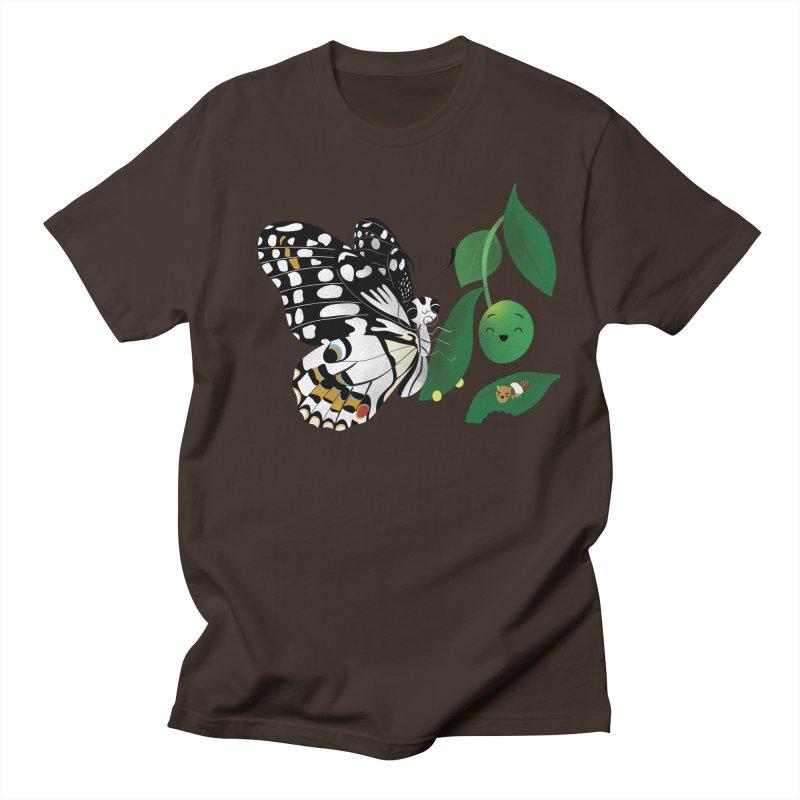Paruparo ng Kalamansi with Calamansi & Caterpillar Men's Regular T-Shirt by Filipeanut Sari-Sari Store