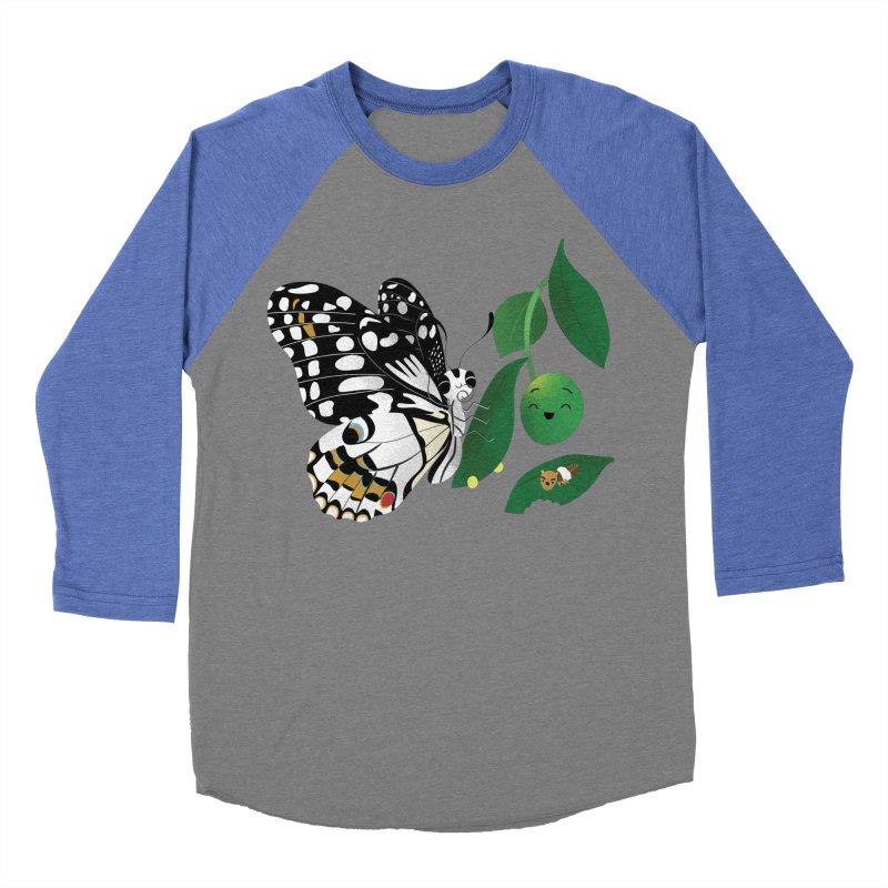 Paruparo ng Kalamansi with Calamansi & Caterpillar Women's Baseball Triblend Longsleeve T-Shirt by Filipeanut Sari-Sari Store