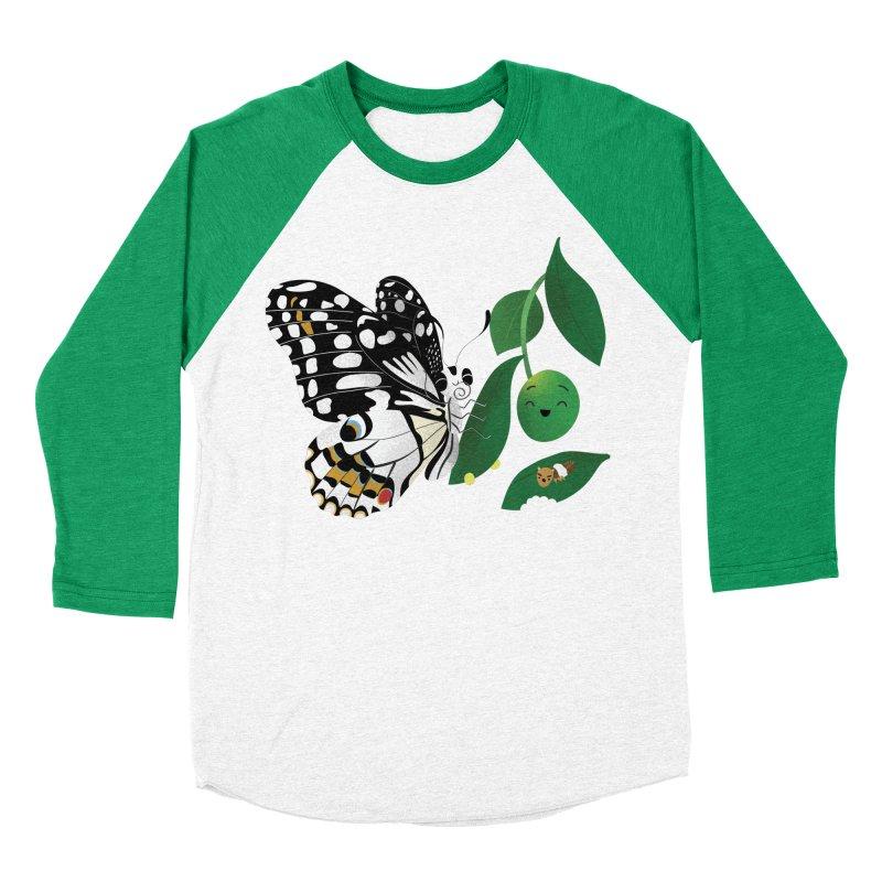 Paruparo ng Kalamansi with Calamansi & Caterpillar Men's Baseball Triblend Longsleeve T-Shirt by Filipeanut Sari-Sari Store
