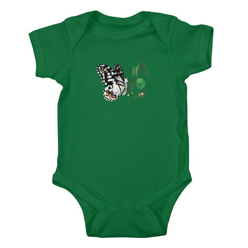Paruparo ng Kalamansi with Calamansi & Caterpillar Kids Baby Bodysuit by Filipeanut Sari-Sari Store