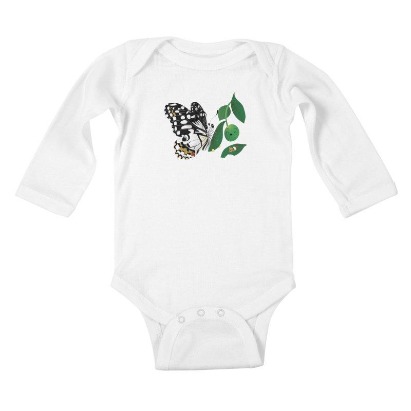 Paruparo ng Kalamansi with Calamansi & Caterpillar Kids Baby Longsleeve Bodysuit by Filipeanut Sari-Sari Store