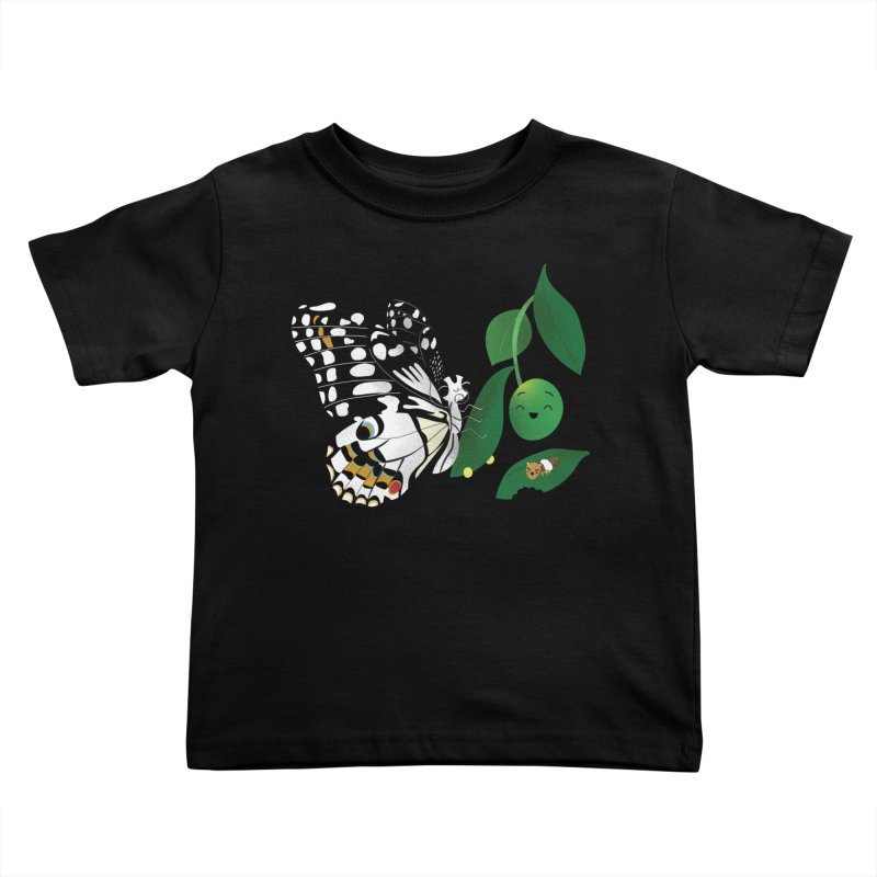 Paruparo ng Kalamansi with Calamansi & Caterpillar Kids Toddler T-Shirt by Filipeanut Sari-Sari Store