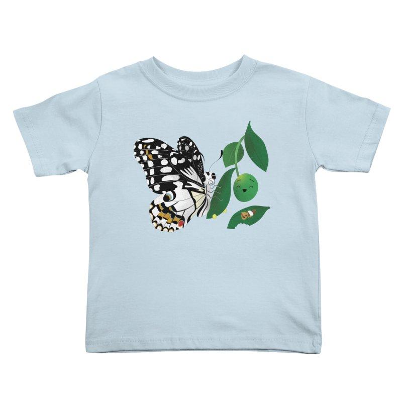 Paruparo ng Kalamansi with Calamansi & Caterpillar Kids Toddler T-Shirt by Filipeanut Sari-Sari Store