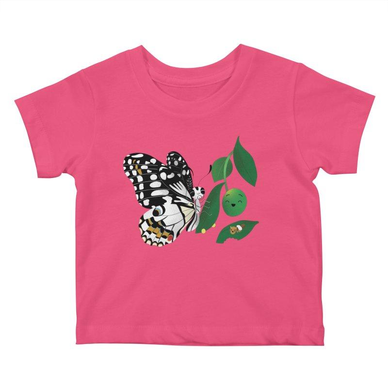 Paruparo ng Kalamansi with Calamansi & Caterpillar Kids Baby T-Shirt by Filipeanut Sari-Sari Store