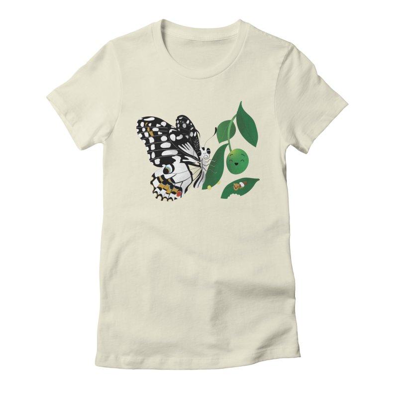 Paruparo ng Kalamansi with Calamansi & Caterpillar Women's T-Shirt by Filipeanut Sari-Sari Store