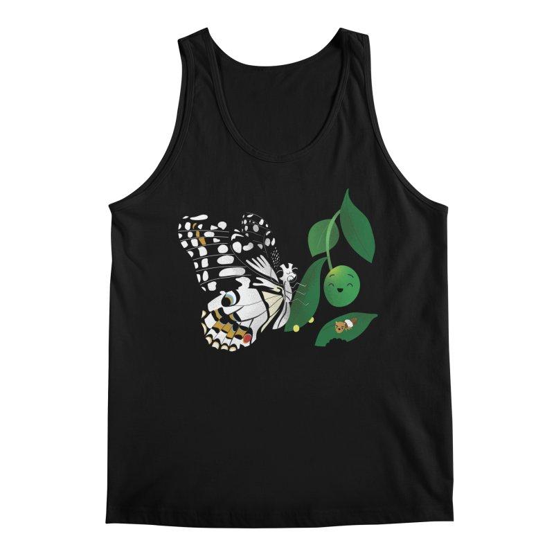 Paruparo ng Kalamansi with Calamansi & Caterpillar Men's Tank by Filipeanut Sari-Sari Store