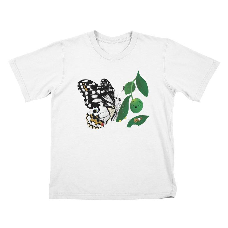 Paruparo ng Kalamansi with Calamansi & Caterpillar Kids T-Shirt by Filipeanut Sari-Sari Store
