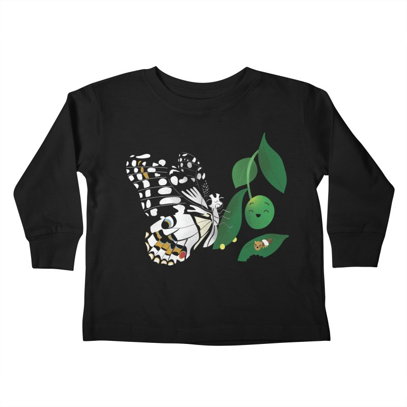 Paruparo ng Kalamansi with Calamansi & Caterpillar Kids Toddler Longsleeve T-Shirt by Filipeanut Sari-Sari Store