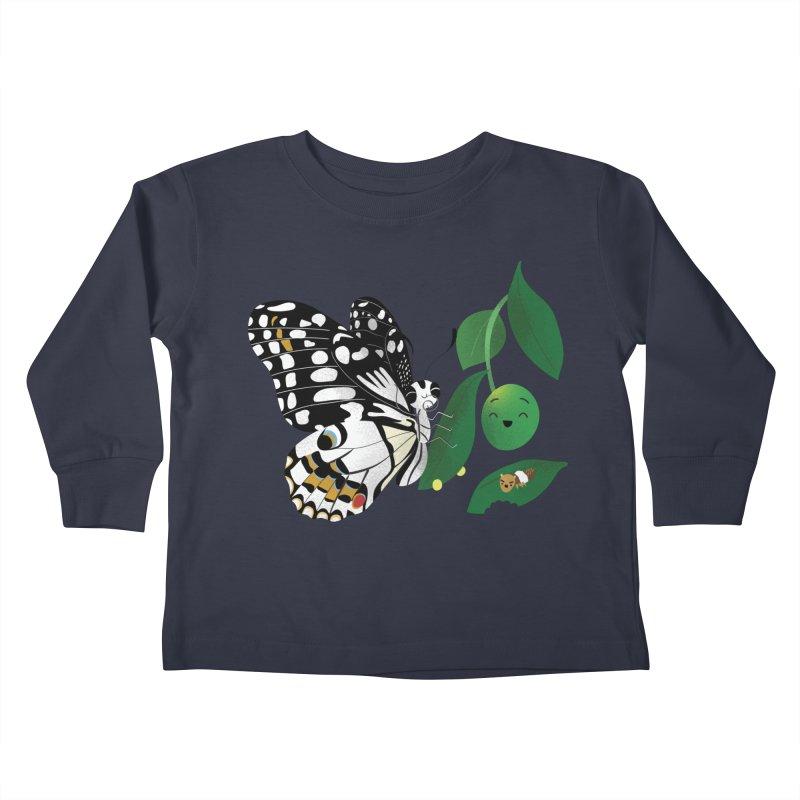 Paruparo ng Kalamansi with Calamansi & Caterpillar Kids Toddler Longsleeve T-Shirt by Filipeanut Sari-Sari Store