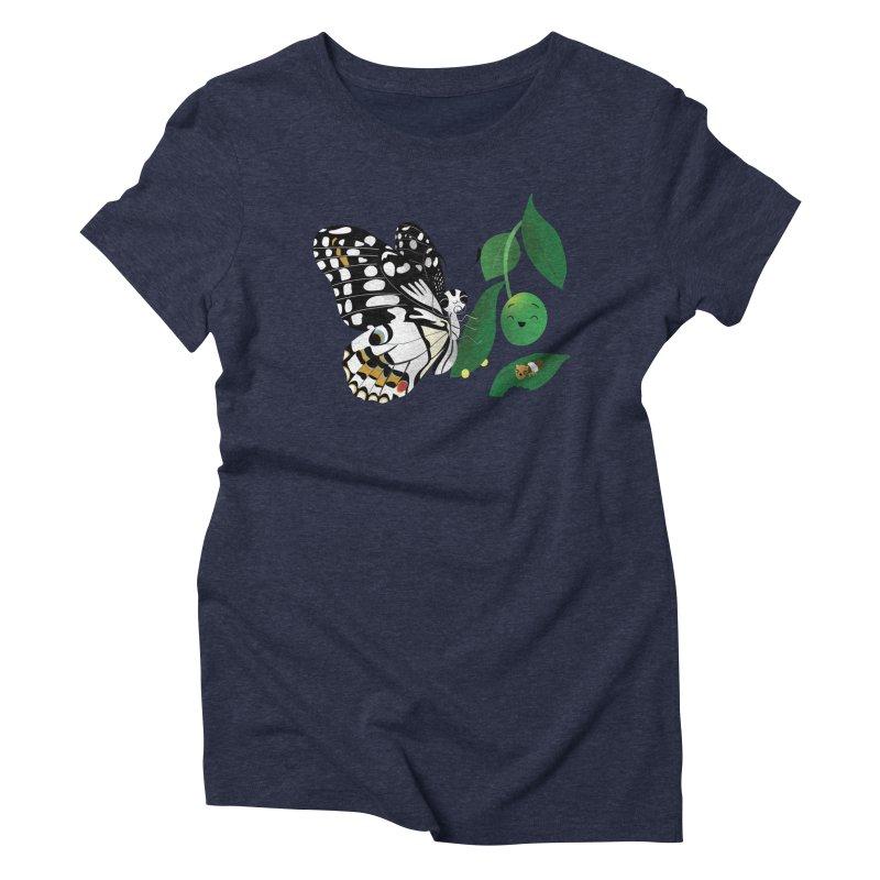 Paruparo ng Kalamansi with Calamansi & Caterpillar Women's Triblend T-Shirt by Filipeanut Sari-Sari Store