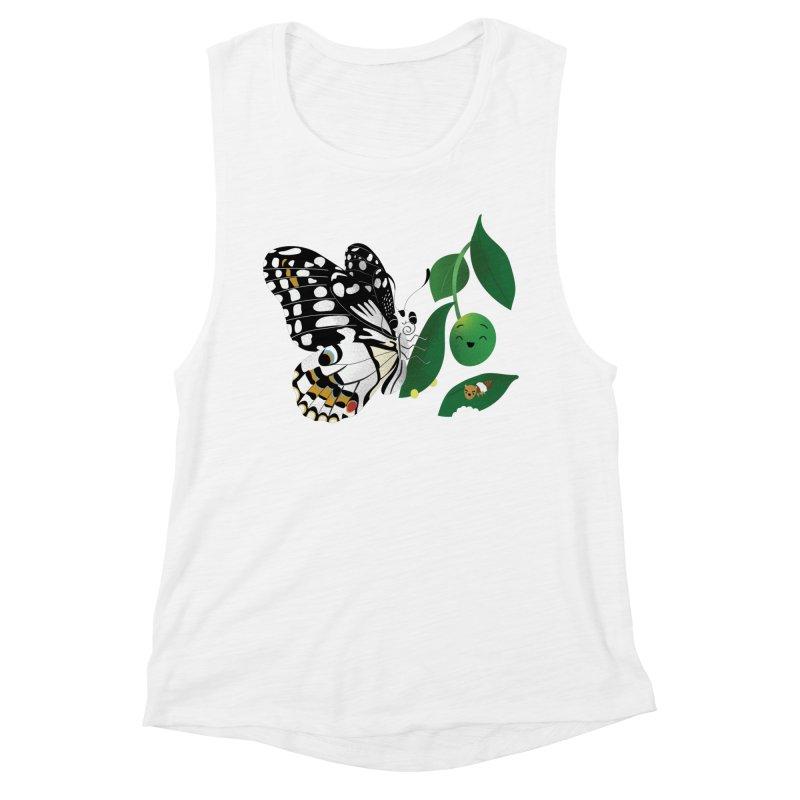 Paruparo ng Kalamansi with Calamansi & Caterpillar Women's Muscle Tank by Filipeanut Sari-Sari Store