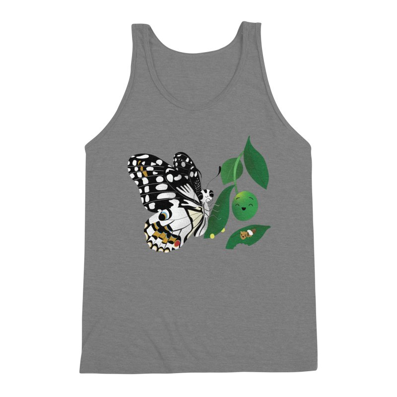 Paruparo ng Kalamansi with Calamansi & Caterpillar Men's Triblend Tank by Filipeanut Sari-Sari Store