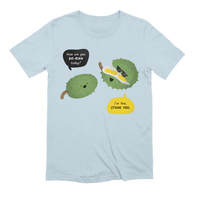 How are you Durian? Men's Extra Soft T-Shirt by Filipeanut Sari-Sari Store