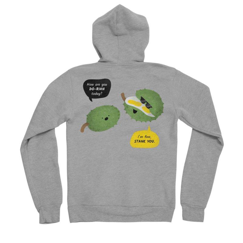 How are you Durian? Men's Sponge Fleece Zip-Up Hoody by Filipeanut Sari-Sari Store